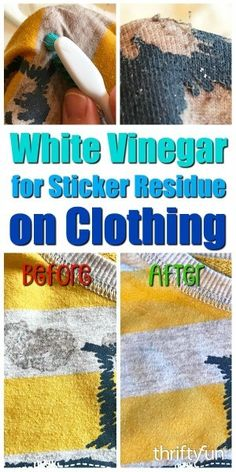 White Vinegar for Removing Sticker Residue from Clothing