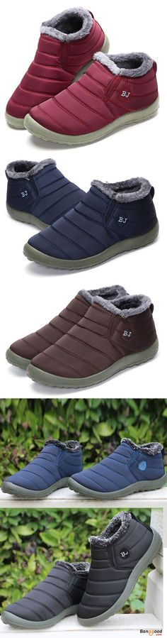Warm Wool Lining Slip On Flat Ankle Snow Boots For Women. Shoes for women,womens boots, womens fashion style in winter, casual style for women in fall/winter. Black Women Fashion, Trendy Fashion, Winter Fashion, Womens Fashion, Fashion Ideas, Trendy Style, Female Fashion, Fashion Trends, Shoes Flats Winter