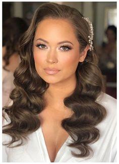 Romantic Wedding Makeup, Summer Wedding Makeup, Wedding Makeup For Brunettes, Best Bridal Makeup, Wedding Makeup For Brown Eyes, Wedding Hair And Makeup, Bridal Hair, Hair Wedding, Green Wedding