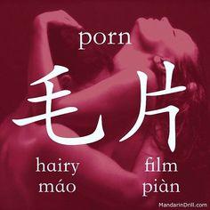 毛片 PORN That's right, a Hairy Film. And don't ask us why, we don't even want to know the answer haha. #china #chinese #rebus