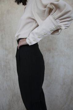 Vivian Blouse - Ivory Cotton Gauze