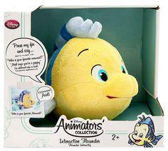 Disney The Little Mermaid Animators Collection Flounder 10-Inch Interactive Plush