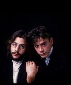 Judd Nelson and Robert Downey, Jr.