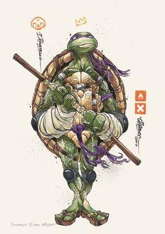 """Clog Two ist ein talentierter Künstler aus Singapur, welcher sich auf die Bereiche Illustration, Graffiti und Charakter-Design spezialisiert hat. In seiner neuesten Serie mit dem Titel """"Ninjas"""" hat er sich den Hauptfiguren, sowohl Helden als auch Schurken aus der bekannten Fernsehserie Teenage Mutants Ninjas Turtles gewidmet. Dabei hat er diese ziemlich hart erscheinen lassen und …"""