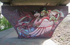 Street art by Nychos and Shida in Vienna, Austria