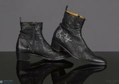 Dave Gahan donated a pair of his boots to the Small Step Project/ Celebrity Shoe Auction. Jean-Michel Cazabat boots. UK 8.5