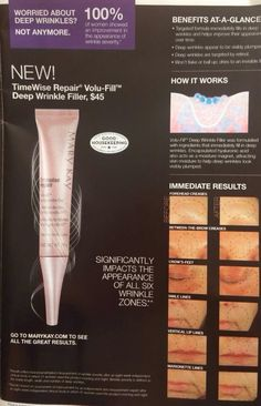 New VoluFirm Repair filler for immediate and long term results in fine lines and wrinkles. www.marykay.com/brandylea