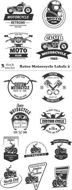 ideas motorcycle logo vector for 2019 Typography Logo, Graphic Design Typography, Schrift Design, Retro Motorcycle, Ex Machina, Retro Logos, Tampons, Creative Logo, Logo Design Inspiration