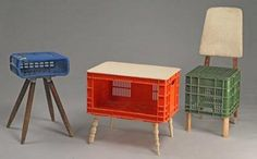 FURNITURE DESIGNED TO REUSE SHIPPING CRATES- great for kids!
