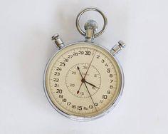 Vintage Very Big Stop Watch Slava Split Second Stopwatch
