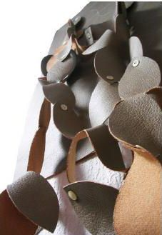 Sophie Marionnet Studio - Flower Fall Wall Paper Leather 3D Origami, Stuffed Mushrooms, 3d, Chocolate, Studio, Wallpaper, Fall, Flowers, Leather