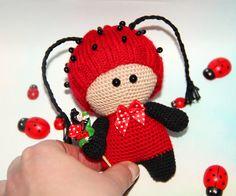 Hecha a mano muñeca mariquita amigurumi muñeca por PrettyBalls