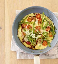 ESSEN & TRINKEN - Pfannkuchenpizza vegetarisch Rezept