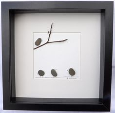 Schottische Kiesel Kunst Bild: Vögel von PebblePictures auf Etsy