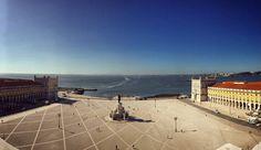 Praça do Comércio Lisbon from above   #travel