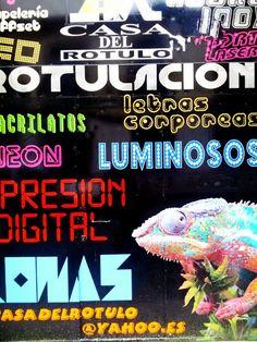 Portalón. (Curioso portal de una empresa de rotulación de la ciudad de Pontevedra).