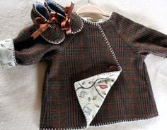 Baby coat and shoesfrom recycled mens wool by countymouse on Etsy, $62.00
