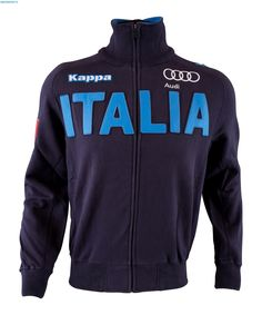 Kappa Men Italian Alpine FIS Badges Team Sweater - Navy Blue