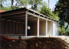 sloping carport design - want this but with blue colourbond roofing ...