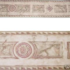 Architectural Pink Marble Rosette Stone Medallion Wallpaper Wall Border | eBay