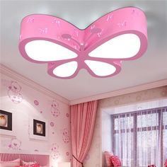 Modern brief children bedroom colorful butterfly hollow iron LED ceiling lamp home deco dining room acrylic ceiling light Bedroom False Ceiling Design, Bedroom Ceiling, Bedroom Lighting, Led Ceiling Lamp, Ceiling Lights, Modern Kids Bedroom, Butterfly Lighting, Girl Bedroom Designs, Girls Bedroom