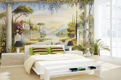 Украсьте интерьер натуральными фресками! Эффект отличный, бюджет не страдает)