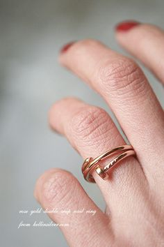 Rose Gold Double Wrap Nail Ring from kellinsilver.com