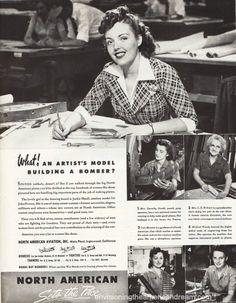 WWII vintage ad Women work sexist