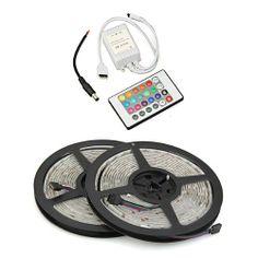 Waterproof 2x5M 10M 5050 SMD 300 RGB LED Light Lamp Flexible Strip Ribbon +24 Key Colours IR Controller. Ideal For Gardens, Homes, Kitchen, Under Cabinet, Aquariums, Cars, Bar, Moon, DIY Party Decoration Lighting by lgking supply, http://www.amazon.co.uk/dp/B00E8YXG0U/ref=cm_sw_r_pi_dp_Gfdutb02DDJ5Q