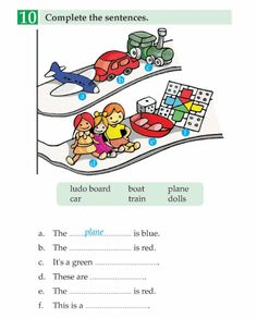 English Book Grade 1 My Toys First Grade Reading Comprehension, Reading Comprehension Worksheets, Reading Fluency, Kindergarten Reading, English Worksheets For Kids, English Lessons For Kids, Learn English Words, English Writing Skills, English Reading