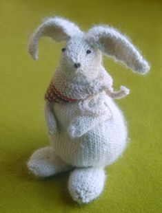 Colorful Crafting with Jen: Bunny Hop Bunnies from Knitting atKNoon - The Purl Bee - Knitting Crochet Sewing Embroidery Crafts Patterns and Ideas!
