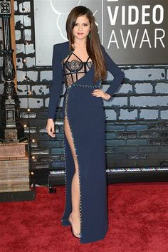No. 1: Selena Gomez  The Atelier Versace gown Selena donned at the 2013 MTV Video Music Awards on Aug. 25, may have been divisive, but we totally loved this grownup look on the former Disney star.