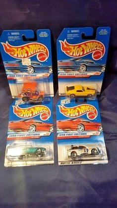 Hot Wheels 1988 First Editions  4 car lot, #640 ,644 ,637, 670 New in Packages #HotWheels