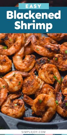 These Blacked Shrimp start with my amazing Cajun Seasoning and turn into the most perfect appetizer, dinner, or taco filling! Easy Dinner Recipes, Great Recipes, Favorite Recipes, Easy Recipes, Best Appetizers, Appetizer Recipes, Cajun Seasoning Recipe, Appetizer Dinner, Blackened Shrimp