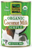 """This """"Simple"""" version contains only coconut and water. Great for those sensitive to guar gum  or other additives. Buy online from company or from www.thrivemarket.com"""