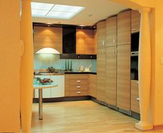 #Kitchen Idea Of The Day: Modern Light Wood Kitchens.