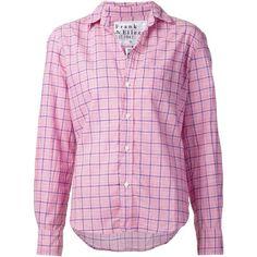 Frank & Eileen plaid shirt (£200) ❤ liked on Polyvore featuring tops, shirts, plaid top, frank & eileen, plaid shirt, tartan shirt and pink shirt