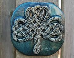 Celtic knot carved from stone