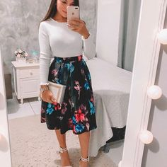 {Classy And Elegant Summer Outfits Cute Skirt Outfits, Dressy Outfits, Chic Outfits, Spring Outfits, Fashion Outfits, Work Outfits, Fashionable Outfits, Fashion Clothes, Sunday Church Outfits