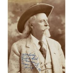 "c57ba9ba008 William F. ""Buffalo Bill"" Cody portrait signed - Gelatin silver glossy  borderless 7"