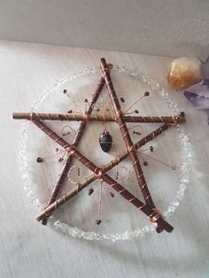 Protection pentacle - pagan decor - samhain - willow pentagram - witchy - wicca - druid - yule - witchcraft supplies - altar - wall art gift by WishfulWillowCrafts on Etsy