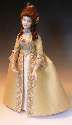Dollhouse doll: Georgian lady by Debbie Dixon-Paver