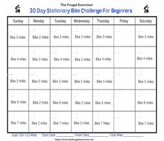 30 Day Stationary Bike Challenge For Beginners