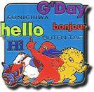 SOG-1037 - Mascots G'Day pin 2000 Olympics, Olympic Games, Sydney, Comic Books, Comics, Logos, Day, Bonjour, Drawing Cartoons