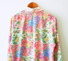 Stunning Vintage Floral Kimono Jacket / 80s by thehappyforest