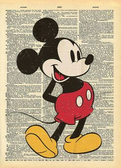Vintage Mickey Mouse Art