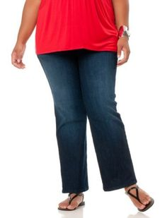 Motherhood Maternity: Plus Size Secret Fit Belly(r) Super Stretch Boot Cut Maternity Jeans Motherhood Maternity. $44.98