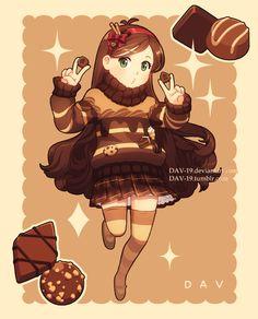 fille chocolat