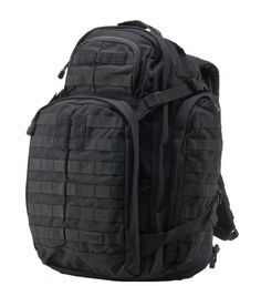 5.11 Rush 72 Backpack - Black - The RUSH 72 is engineered to be a full featured 72 hour bag that provides ample space for gear and accessories while remaining rugged and reliable enough for extended excursions or tactical deployments. Get it at http://zuffel.com/collections/backpacks/products/5-11-rush-72-backpack-black