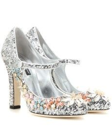 Dolce & Gabbana - Embellished Mary Jane pumps - mytheresa.com